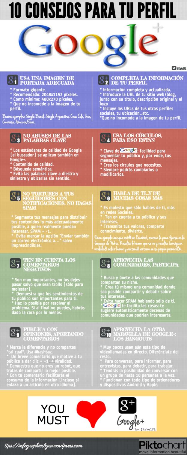 10 Buenos Consejos para tu perfil en Google+, by @RakelFL
