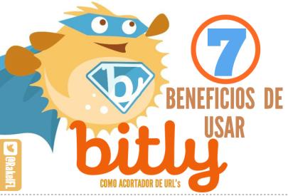 7 beneficios Bitly, infografía de Rakel Felipe