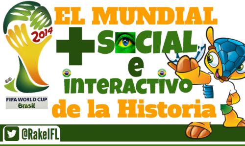 FIFA World Cup Brasil 2014, el Mundial más social e interactivo de la Historia. Infografía de Rakel Felipe