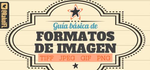 Guía Básica de Formatos de Imagen- TIFF, JPEG, GIF, PNG (infografía de Rakel Felipe)