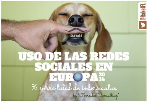 Uso de las redes sociales en Europa, según Forrester Consulting (by @RakelFL)