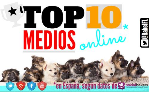 Top 10 de Medios Online en España (by @RakelFL)