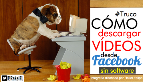 Descargar vídeo en Facebook, infografía social media by Rakel felipe
