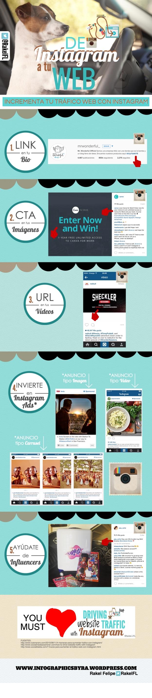De Instagram a tu Web, infografía by Rakel Felipe