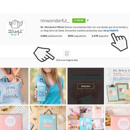 Ejemplo Mr Wonderful, cómo generar tráfico web desde Instagram by Rakel Felipe