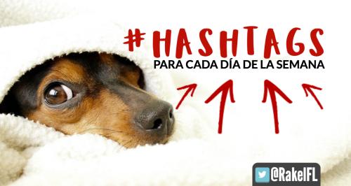 #Hashtags para cada día de la semana infografía by Rakel Felipe PORTADA